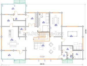 Пб-064 план 1-го этажа зеркальный