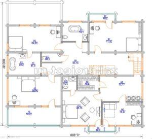 Пб-064 план 2-го этажа зеркальный