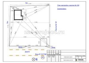 Ситуационный план пример проекта дома из клееного бруса
