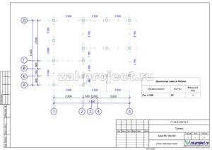 План свайного поля пример проекта дома из клееного бруса
