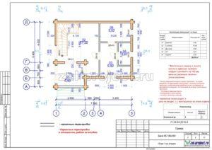 План 1-го этажа пример проекта дома из клееного бруса