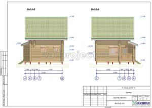 Вид А-Д; Д-А пример проекта дома из клееного бруса