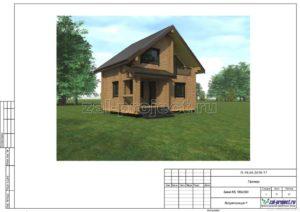 Визуализация 1 пример проекта дома из клееного бруса