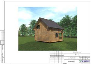 Визуализация 2 пример проекта дома из клееного бруса