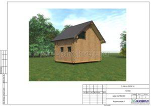 Визуализация 3 пример проекта дома из клееного бруса