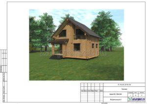 Визуализация 4 пример проекта дома из клееного бруса