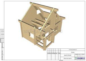 Общий вид сруба 2 пример проекта дома из клееного бруса