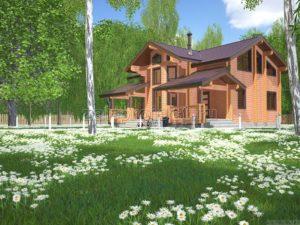 Проект дома из клееного бруса Пб-003