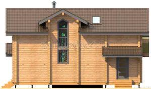 Проект дома из клееного бруса Пб-003 Фасад 2