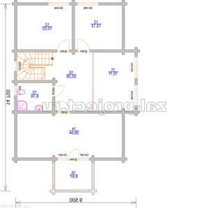 Проект дома из клееного бруса Пб-004 План 2-го этажа зеркальный