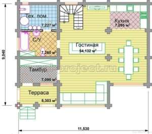 П-21 план 1-го этажа