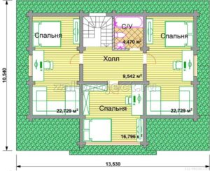 П-21 план 2-го этажа