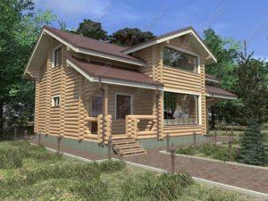 Дом из бревна П-21