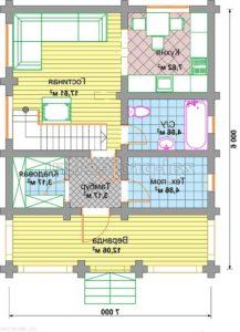 П-24 план 1-го этажа зеркальный