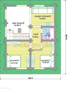 П-24 план 2-го этажа зеркальный