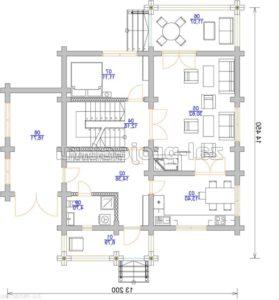П-27 план 1-го этажа зеркальный