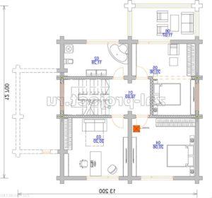 П-27 план 2-го этажа зеркальный