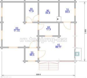 ПКБб-001 план бани зеркальный