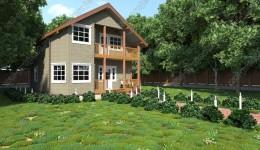 Проекты каркасных домов: Пк-002